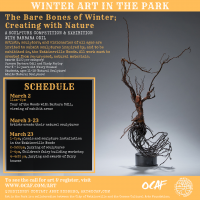 The Bare Bones of Winter; Art in the Park with Barbara Odil
