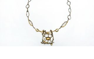 "Barbara Mann, ""Sunlight in Trees Necklace"""