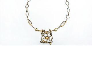 "Barbara Mann, ""Sunlight in Trees Necklace"""