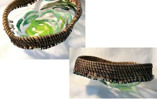 "Babs Kall, ""Open Weave Glass Basket"""