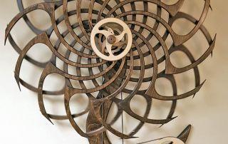 "Mark Beduhn, ""Sunflower Kinetic Sculpture"" (Honorable Mention)"