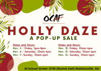 Holly Daze – a pop-up sale